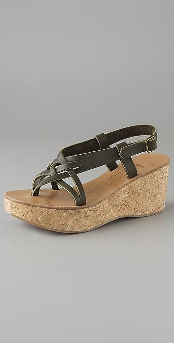 K. Jacques Jalama Cork Platform Sandals