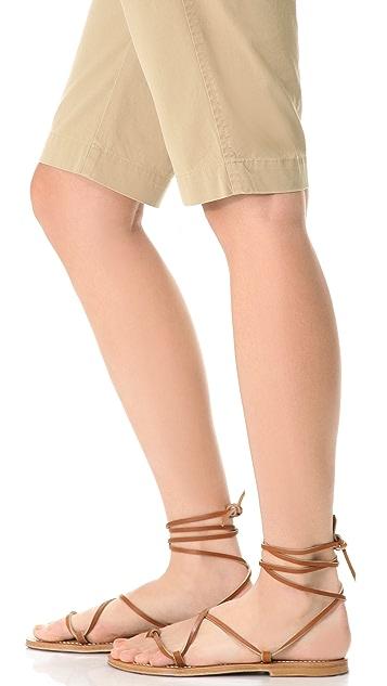 K. Jacques Bikini Wrap Flat Sandals