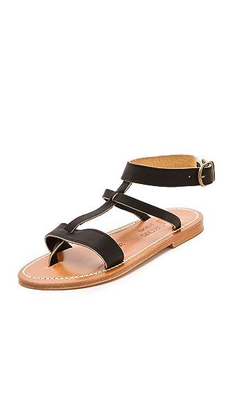 K. Jacques Corvette Cuff Sandals