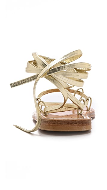 K. Jacques Bikini Wrap Flat Sandals