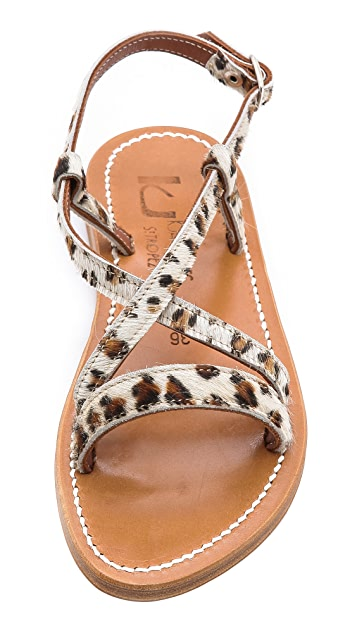 K. Jacques Flavia Crisscross Sandals