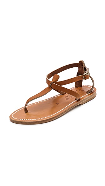K. Jacques Buffon T-Strap Sandals