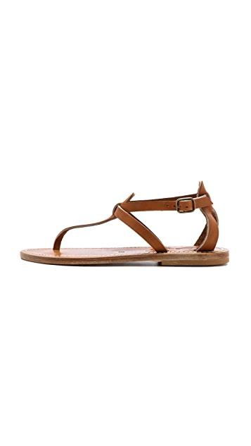 K. Jacques Buffon T-Strap Sandals