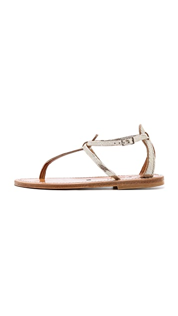 K. Jacques Buffon Metallic Sandals