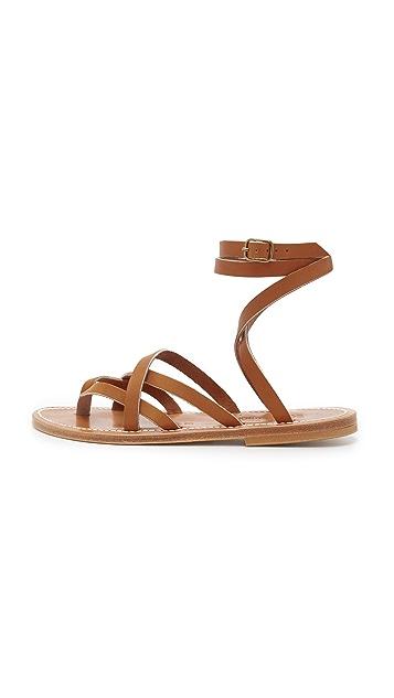 K. Jacques Zenobie Wrap Sandals