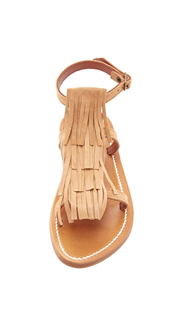 K. Jacques Corsaire Fringe Sandals