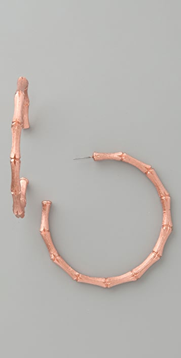 Kenneth Jay Lane Bamboo Hoops