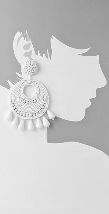 Kenneth Jay Lane Gypsy Disco Earrings