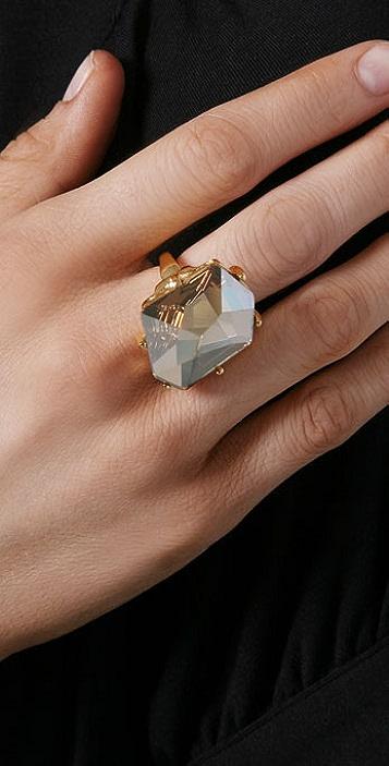 Kenneth Jay Lane Fancy Cut Ring