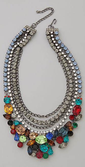 Kenneth Jay Lane Gem Chain Necklace