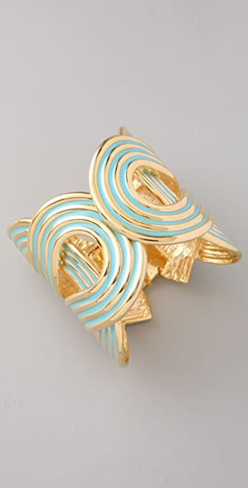 Kenneth Jay Lane Turquoise Enamel Knot Cuff