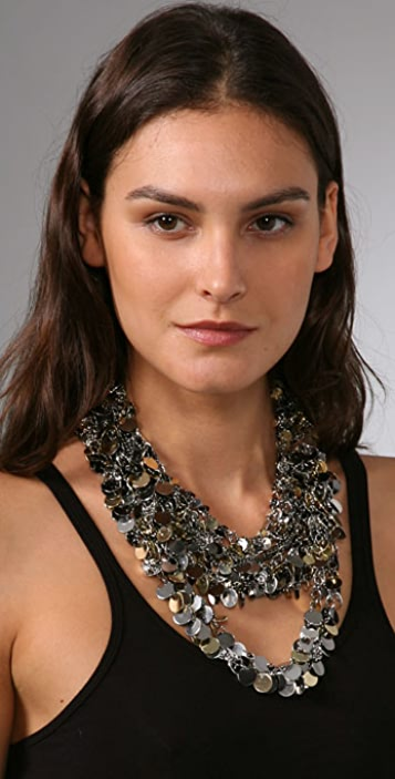 Kenneth Jay Lane Coin Drop Chain Necklace