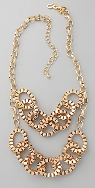 Kenneth Jay Lane Boxy Oval Link Necklace