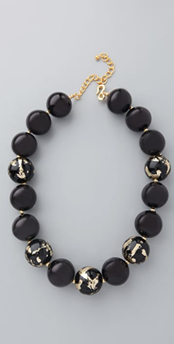 Kenneth Jay Lane Leaf Necklace