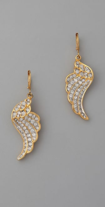 Kenneth Jay Lane Crystal Wing Earrings
