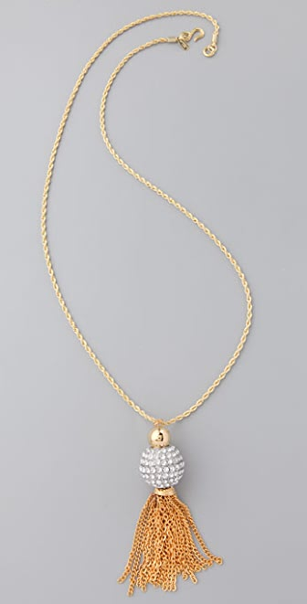 Kenneth Jay Lane Crystal Ball Necklace