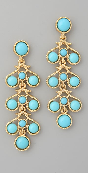 Kenneth Jay Lane Three Drop Earrings