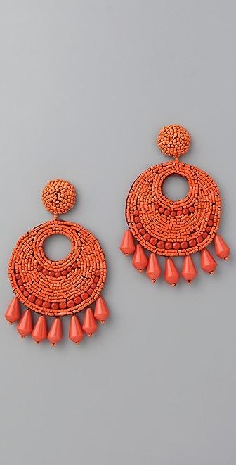 Kenneth Jay Lane Button Drop Earrings