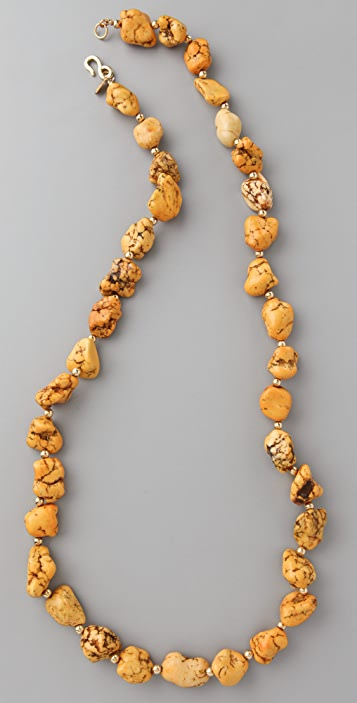 Kenneth Jay Lane Stone Nugget Necklace