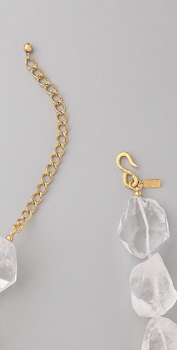 Kenneth Jay Lane Natural Rock Necklace