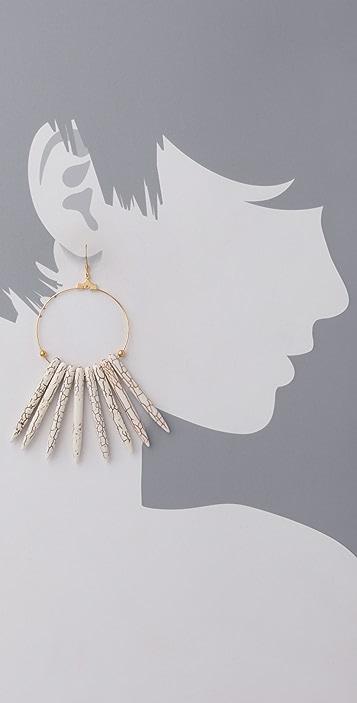 Kenneth Jay Lane Bone Hoop Earrings