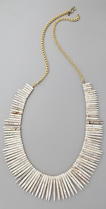 Kenneth Jay Lane Bone Stick Necklace