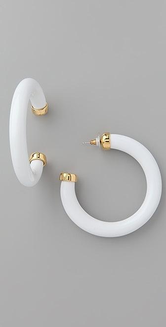 Kenneth Jay Lane Large Resin Hoop Earrings