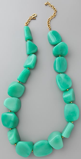Kenneth Jay Lane Jade Bead Necklace