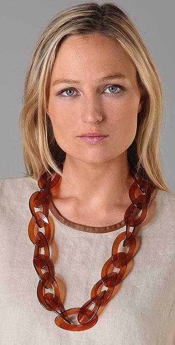 Kenneth Jay Lane Tortoise Link Necklace
