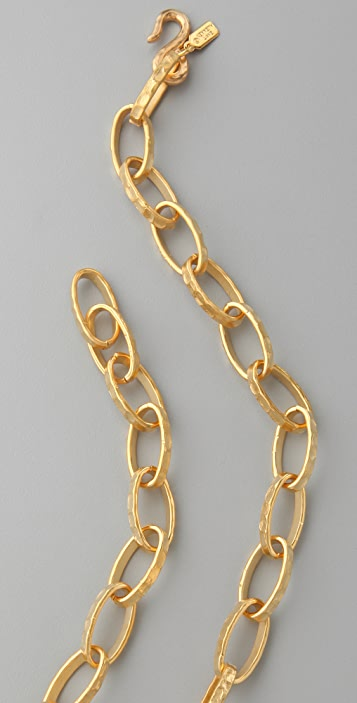 Kenneth Jay Lane Satin Gold Small Link Necklace