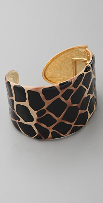 Kenneth Jay Lane Printed Cuff