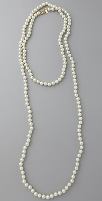 Kenneth Jay Lane Glass Pearl Necklace