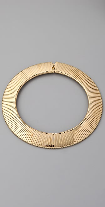 Kenneth Jay Lane Thick Snake Chain Bib Necklace