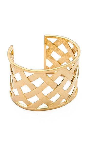 Kenneth Jay Lane Basket Weave Cuff