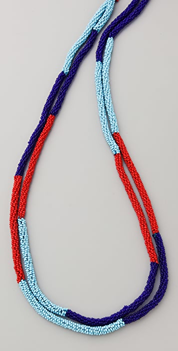 Kenneth Jay Lane Long Seed Bead Rope Necklace