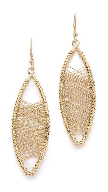 Kenneth Jay Lane Oval Wire Wrapped Earrings
