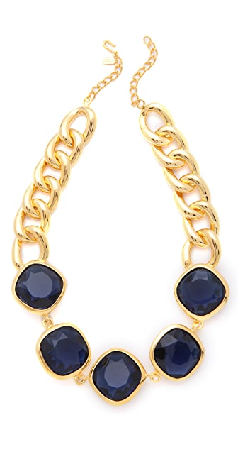 Kenneth Jay Lane Stone Station Necklace
