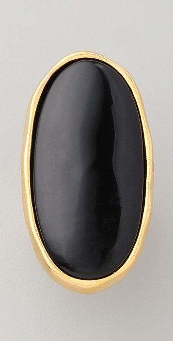 Kenneth Jay Lane Gold & Black Oval Ring
