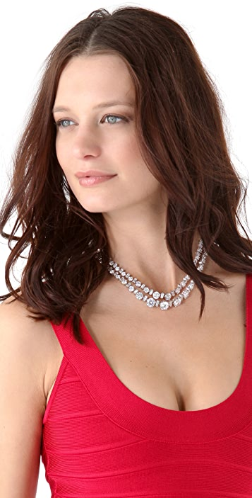 Kenneth Jay Lane Double Riviere Necklace