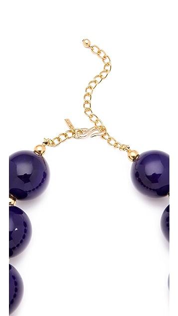 Kenneth Jay Lane Large Ceramic Bead Necklace