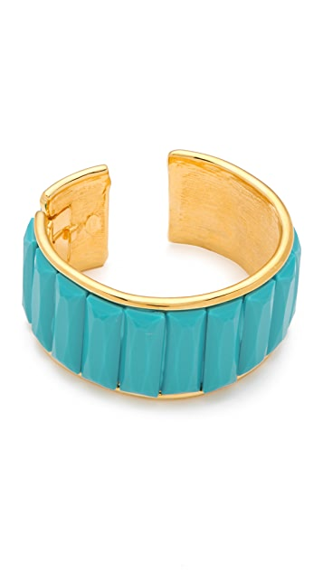 Kenneth Jay Lane Turquoise Deco Cuff