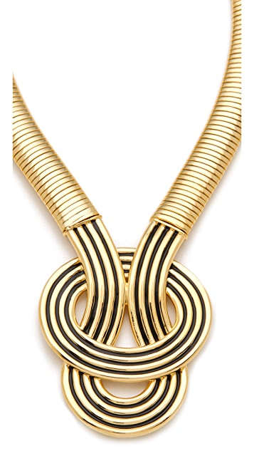 Kenneth Jay Lane Enamel Knot Necklace