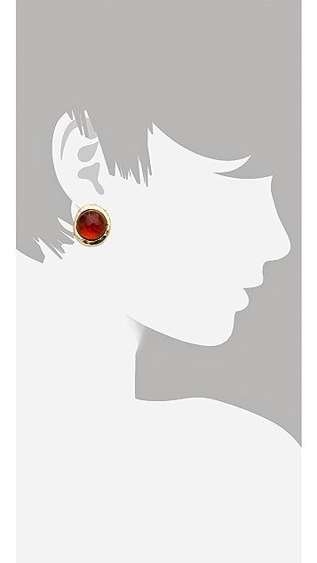 Kenneth Jay Lane Flawed Cabochon Earrings