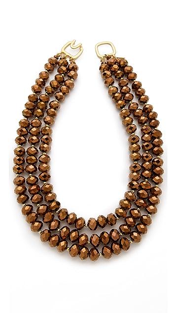 Kenneth Jay Lane Three Row Necklace