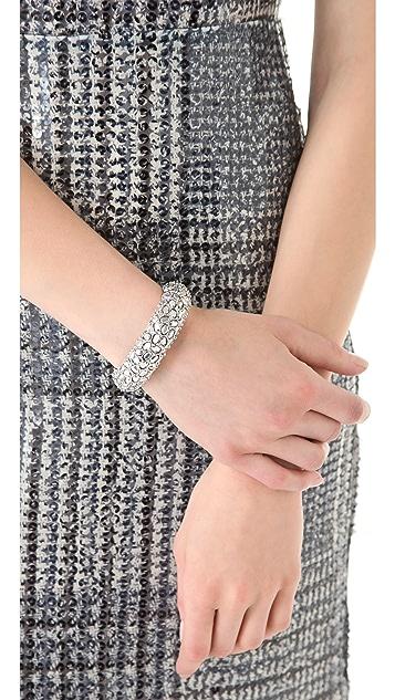 Kenneth Jay Lane Silver Comet Bracelet