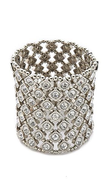 Kenneth Jay Lane Crystal Stretch Bracelet