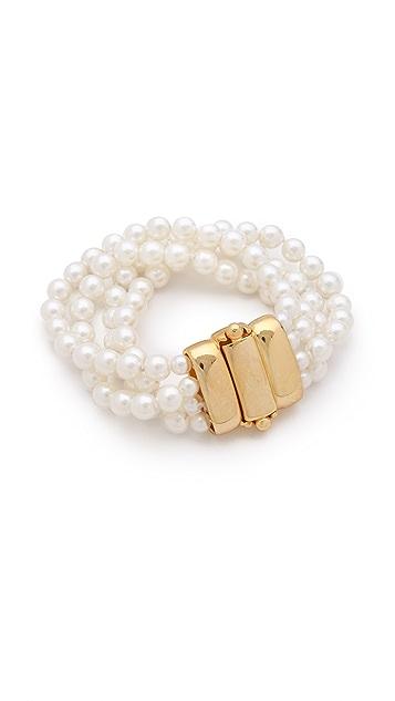 Kenneth Jay Lane Imitation Pearl Bracelet