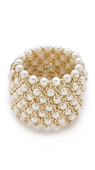 Kenneth Jay Lane Gold Stretch Bracelet