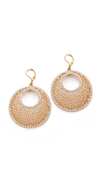Kenneth Jay Lane Filigree & Crystal Earrings
