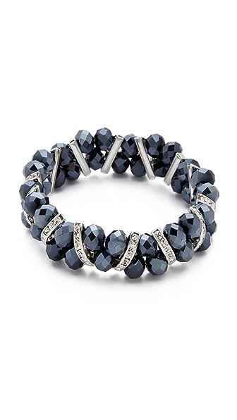 Kenneth Jay Lane Crystal & Beaded Stretch Bracelet
